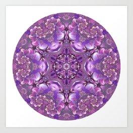 Truth Mandala in Purple, Pink and White Art Print