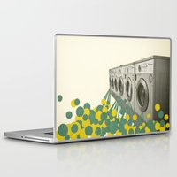 waterfall Laptop & iPad Skins featuring Waterfall by Cassia Beck