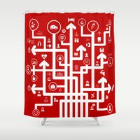 medicine Shower Curtains featuring Arrow medicine by aleksander1