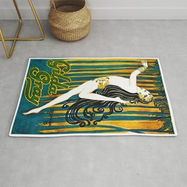 1925 Gilda Gray New York City Jazz Age Caberet Poster Rug