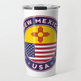 New Mexico, USA States, New Mexico t-shirt, New Mexico sticker, circle Travel Mug