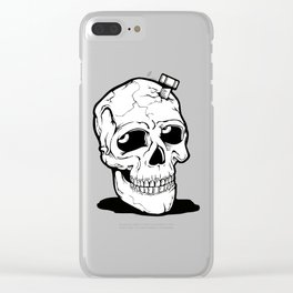 Screwed Skull Clear iPhone Case