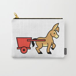 Mule and cart icon Carry-All Pouch