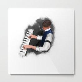 Piano singer Metal Print