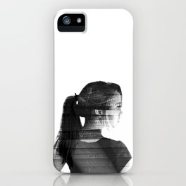 She was lost in her longing to understand. iPhone Case