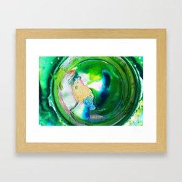 Melted Emerald Framed Art Print