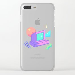 powered on (ver. 1) Clear iPhone Case