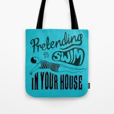 Pretending to Swim - inspired by song lyrics by The Cure Tote Bag
