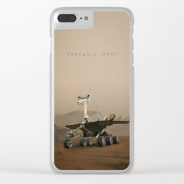 Farewell, Oppy. Clear iPhone Case