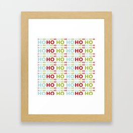 Ho Ho Ho Merry Christmas Framed Art Print