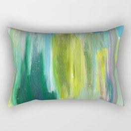 Green Waterfall Rectangular Pillow