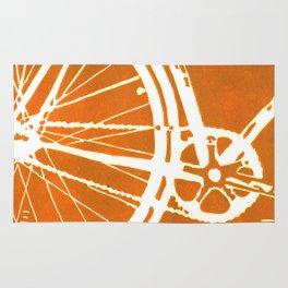 Orange Bike Rug