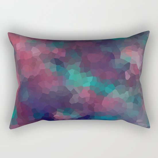 Abstract pattern blue raspberry and turquoise crystals . Rectangular Pillow
