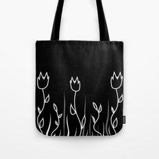 Simple flower black Tote Bag