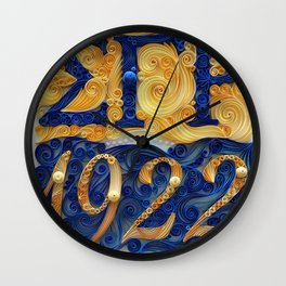 Sigma Gamma Rho 1922 Wall Clock