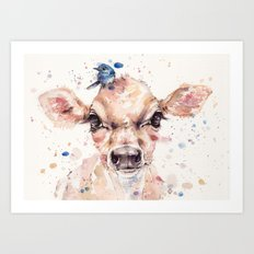 Little Calf Art Print