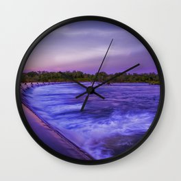 Early Morning at Ivanhoe crossing Wall Clock