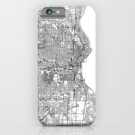 Milwaukee White Map iPhone Case