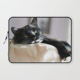 Black Cat Chilling Laptop Sleeve