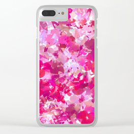 Rosey Spring Clear iPhone Case