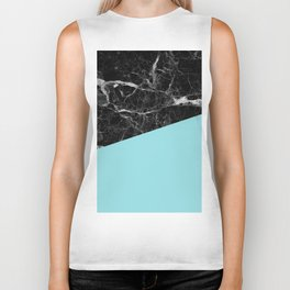 Black Marble and Island Paradise Color Biker Tank