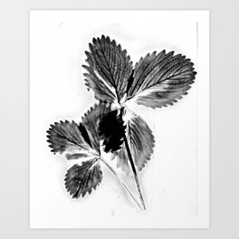 Strawberry Leaves Art Print