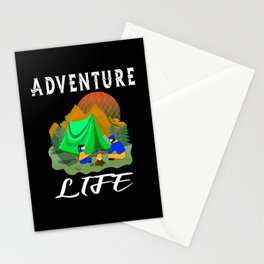 Adventure Life Camping Outdoor Activity Stationery Cards