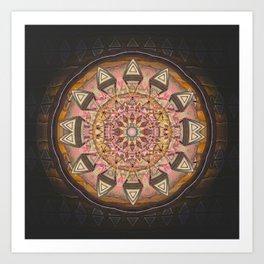 Mandala of Fortune and Prosperity in Deep Earth Tones Art Print