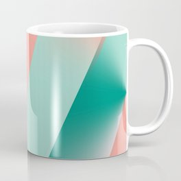 Soft Pink Peach Amber Yucca and Arbor Green Seamless Ombre Coffee Mug