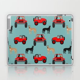 Great Dane jeep car dog breed pattern custom pet portrait Laptop & iPad Skin