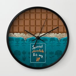 Special chocolate for me Wall Clock