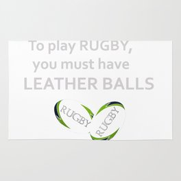 RUGBY's leather balls Rug