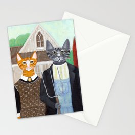 Ameowican Gothic Stationery Cards