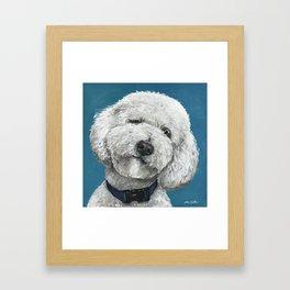 Cute Golden-Doodle, Colorful Golden Doodle Art, Labradoodle Art Framed Art Print