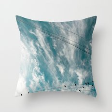 Doves and Wire#2 Throw Pillow