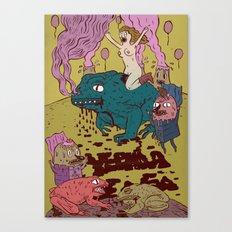 black toad Canvas Print
