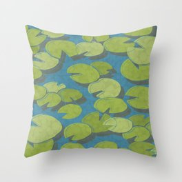 Lily Pad Love Throw Pillow