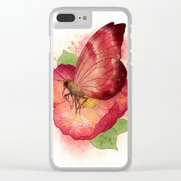 Pollinator Animals- Butterfly Clear iPhone Case
