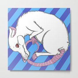 White Rat! Metal Print
