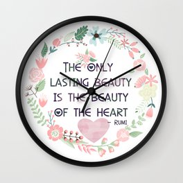Beauty of the Heart Wall Clock