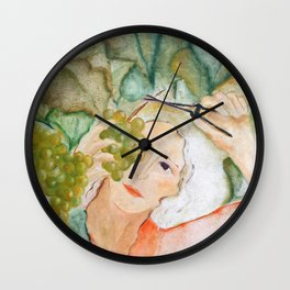 Colhendo uvas (Harvesting grapes) Wall Clock