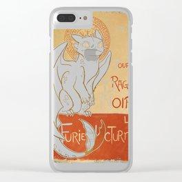 Le Dragon Noir Clear iPhone Case