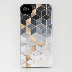 Soft Blue Gradient Cubes iPhone (4, 4s) Slim Case