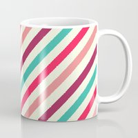 striped Mugs featuring Striped. by Tayler Willcox