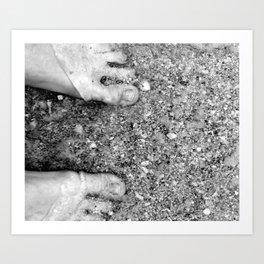 Beautiful Feet Art Print
