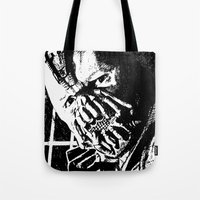 bane Tote Bags featuring Bane by DeMoose_Art