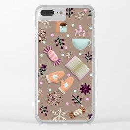 Cozy Danish Winter Hygge Clear iPhone Case