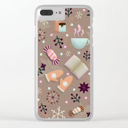 Cozy Danish Winter Hygge Clear iPhone Case