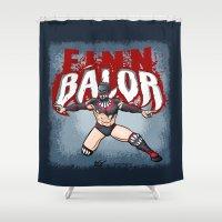 finn Shower Curtains featuring Finn Balor by RandallTrang