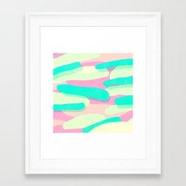 jelly / pink & aquamarine Framed Art Print